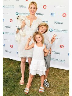 Kelly Rutherford out with her kids (Hermes and Helena) at a Hamptons fundraiser