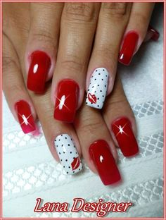 Trendy Options for Ombre Nails For Any Occasion Shellac Nail Art, Cute Acrylic Nails, Nail Nail, Stylish Nails, Trendy Nails, Fancy Nails, Love Nails, Valentine's Day Nail Designs, Valentine Nail Art