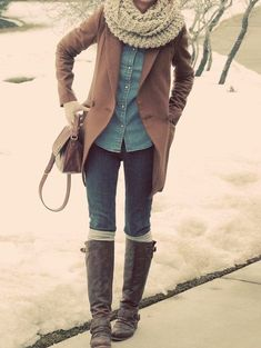 I like the scarf, jacket, and shirt. and the boots. :D