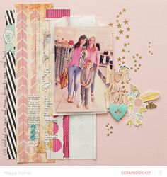 #papercraft #Scrapbook #layout.  Here and Now by maggie holmes at @studio_calico