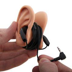 Earbud ears.