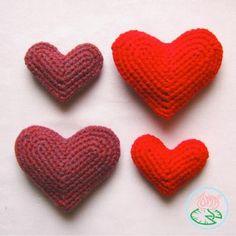 Bees and Appletrees (BLOG): een hart haken - crochet heart tutorial