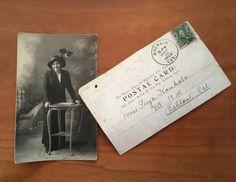 Vintage Sepia Postcards, Antique Paper Ephemera, Set of 2, Romance, Photograph, Rocklin CA, 1906 Edwardian Era, Valentines Nostalgia by ArtBarn on Etsy