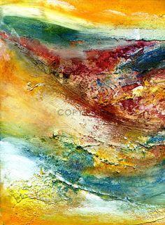 Kunst Ambiente morgenröte acryl abstrakte malerei zeitgenössisch mischtechnik