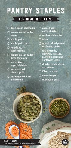 Time to refresh your pantry with the staples for healthful cooking... It's easy!