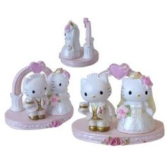 Sanrio Hello Kitty Porcelain Figurine - lol i would never have this on my cake, but it would be funny to make pat think i am ;D i <3 hello kitty