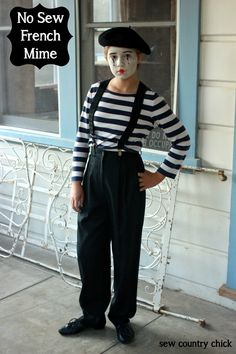 No Sew French Mime Costume