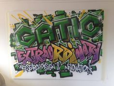 Client: gatic.com - #graffiti #design #interiordesign #office #handpainted #bespoke #custom #dover #logo #lettering