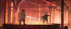 Star wars as Ghibli reimagined Obi-wan and Anakin
