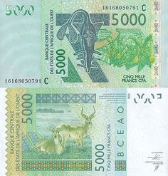 Roberts World Money. Sellers of Quality World Banknotes. French West Africa, Cfa, African States, Money Notes, Passport Stamps, First Day Covers, Visa Card, World Coins, African Animals