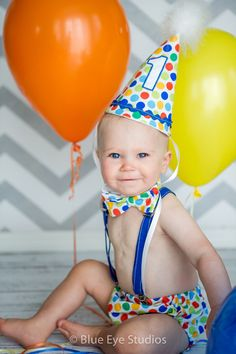 Smash The Cake 1st Birthday Deluxe Party Set - Circus Dots 2 on Etsy, $45.00