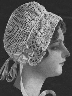 Vintage crochet pattern for pretty lace cap from Edwardian downton abbey era-pdf email delivery. $2.75, via Etsy.