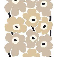 Marimekko Unikko pattern in beige Marimekko Wallpaper, Fabric Wallpaper, Pattern Wallpaper, Iphone Wallpaper, Fabric Patterns, Print Patterns, Ink Illustrations, Pattern Drawing, Pattern Illustration