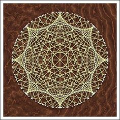 Geometric String Art: Hypocycloid 1:8