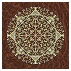 Geometric String Art: Hypocycloid 1:8