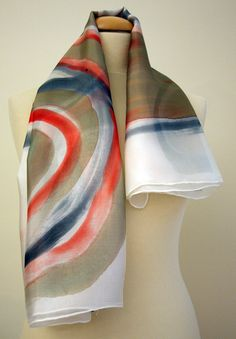 Your place to buy and sell all things handmade Silk Art, How To Wear Scarves, Silk Painting, Hand Painted, Painted Silk, Silk Scarves, Wearable Art, Looks Great, Gifts For Her