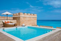 The pool at the honeymoon suite at Sanctuary Cap Cana.