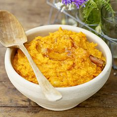Mashed Sweet Potatoes with Banana and Brown Sugar Recipe  | Epicurious.com