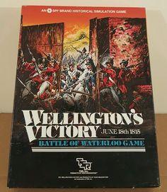 Vintage 1983 Wellington's Victory Battle of Waterloo 1815 SPI TSR Board Game…