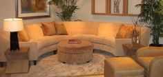 Curved Leather Sectional Sofa | Curved Sectional Sofa For Home Interiors