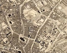 Thomas Oliver's map of Newcastle of 1833 Old Photos, Vintage Photos, Newcastle England, England Map, North Shields, Great North, North East England, Northern England, Old Maps