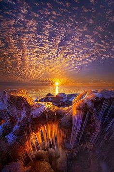 Sunrise on the shore of Lake Michigan😍😍 Beautiful World, Beautiful Places, Beautiful Pictures, Beautiful Nature Wallpaper, Beautiful Landscapes, Landscape Photography, Nature Photography, Travel Photography, Beautiful Sunrise
