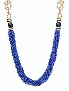 Seedbead & Rope-Chain Necklace - Talbots - Jan 2016