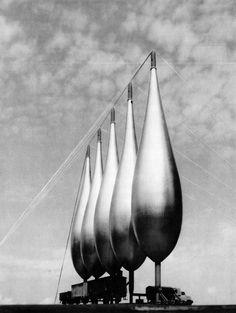 Grain silos designed by German architect Frei Otto