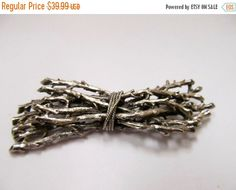 OSCAR CHARLIN Silver Tone Bundle of Branches Pin Item K # 1024