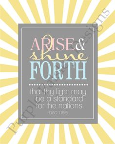 Printable: 2012 LDS Young Women Theme (Full Scripture