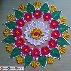 Easy Rangoli Designs Videos, Easy Rangoli Designs Diwali, Indian Rangoli Designs, Rangoli Designs Latest, Simple Rangoli Designs Images, Rangoli Designs Flower, Rangoli Patterns, Free Hand Rangoli Design, Small Rangoli Design