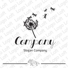 Hand Drawn Logo Design  Groundsel Dragonfly Logo  by LogoLoft, $160.00