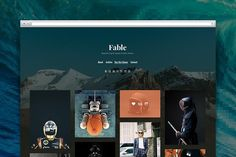 Fable tumblr theme by Pixel Revel on @creativemarket