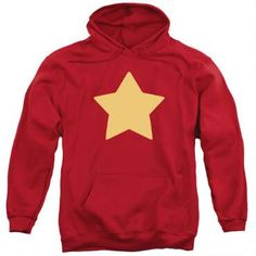 You'll look just like Steven Universe in this cozy hooded red sweatshirt complete with yellow star.