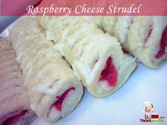 Raspberry Cheese Strudel