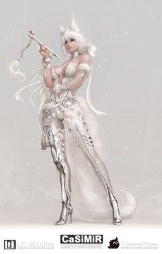 Snowfox by casimir0304.deviantart.com on @deviantART