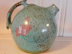 A.R. Cole, Rainbow Pottery, Sanford, NC.  Ball Jug, Hand Signed, Perfect Mint Condition!