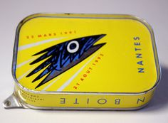ART Exposition 1991 Nantes FRANCE Sardine Tin BOX Musee du chateau