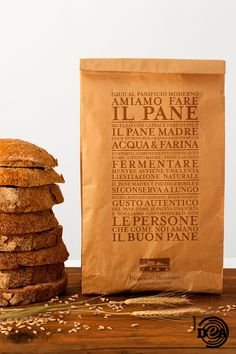 Il Pane Madre del Panificio Moderno Bakery, Packaging, Bread, Coffee, Organic, Food, Trendy Tree, Bakery Business, Kaffee
