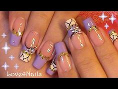 Lavender Dream Sparkle Nail Art Design Tutorial - YouTube