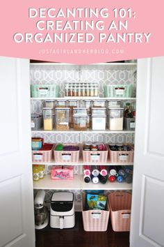 Learn when and how to decant food into pantry storage containers so that your pantry and kitchen stay neat and organized! | #decanting #organizedpantry #pantryorganization #kitchenorganization Linen Closet Organization, Small Space Organization, Home Organization Hacks, Kitchen Organization, Organizing Tips, Oxo Pop Containers, Pantry Storage Containers, Pantry Inspiration, Decanter