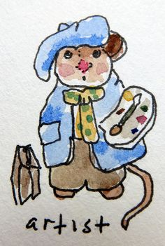 Jane LaFazio - Wee Forest Mice Sketches - http://janeville.blogspot.com/2013/12/from-my-sketchbook-mouses.html