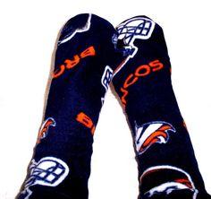 Men's Denver Bronco Socks, Sports Socks, Denver Bronco Socks, Team Sport, Men's Warm Socks, Unique Socks, Fleece Socks Handmade
