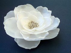 Ivory/Champagne Silk Flower ClipWedding by Anakristinastreasure