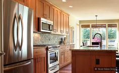 subway slate tile brown cabinets baltic brown countertop