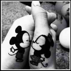 cute couple mickey & minnie tattoo. for the disney lover in you <3