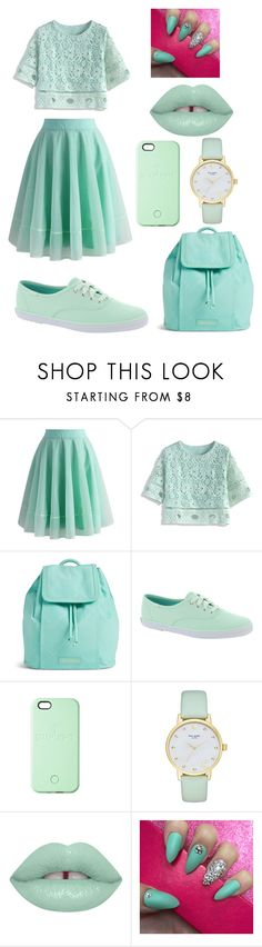 """""""Mint"""" by skyeham ❤ liked on Polyvore featuring Chicwish, Vera Bradley, Keds, SnapLight and Kate Spade"""