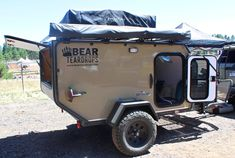 California's Bear Teardrops says its $16,995 Apache AT trailer is a four- to five-person off-road trailer...