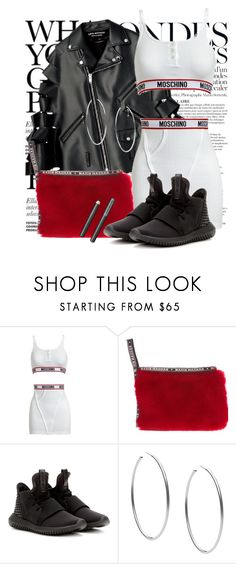 """""""Untitled #1280"""" by noviii ❤ liked on Polyvore featuring Anja, Moschino, Nasir Mazhar, adidas, Michael Kors and Burberry"""