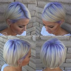 Platinum Hair with Purple Roots - Hair Colors Ideas